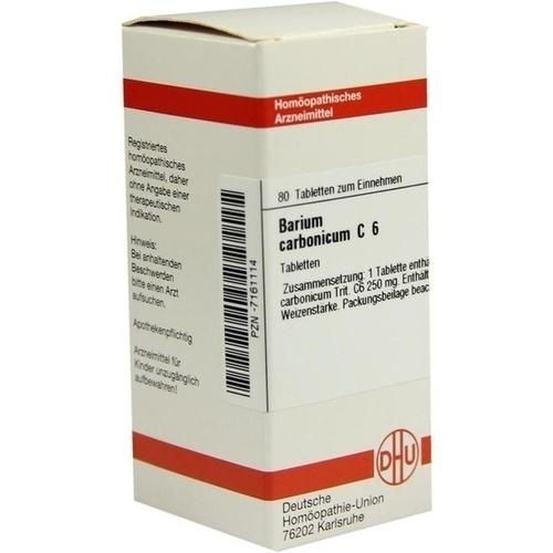 BARIUM CARBONICUM C 6, 80 ST, Dhu-Arzneimittel GmbH & Co. KG
