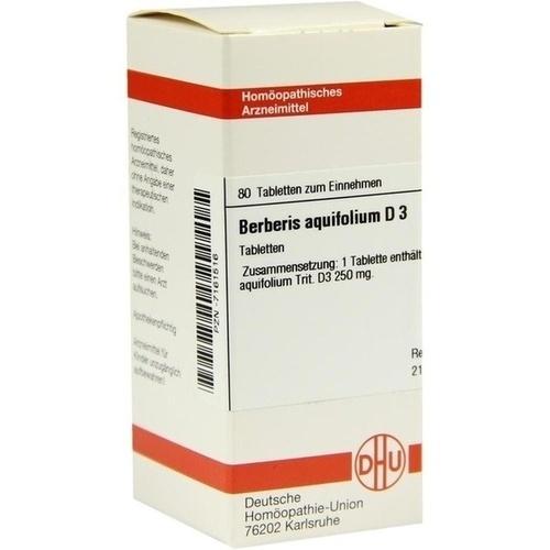 BERBERIS AQUIF D 3, 80 ST, Dhu-Arzneimittel GmbH & Co. KG