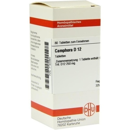 CAMPHORA D12, 80 ST, Dhu-Arzneimittel GmbH & Co. KG