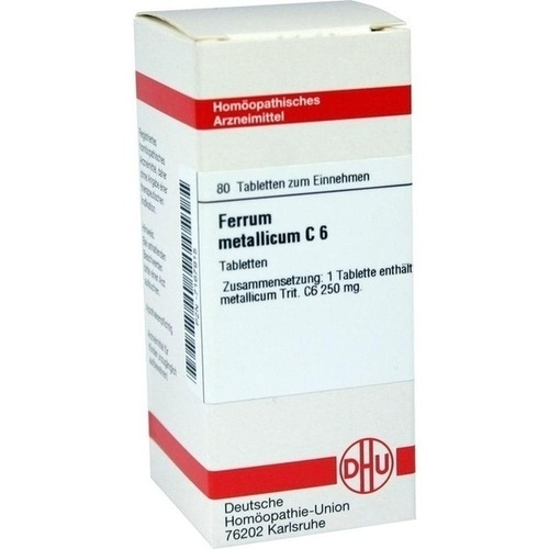 FERRUM METALLICUM C 6, 80 ST, Dhu-Arzneimittel GmbH & Co. KG