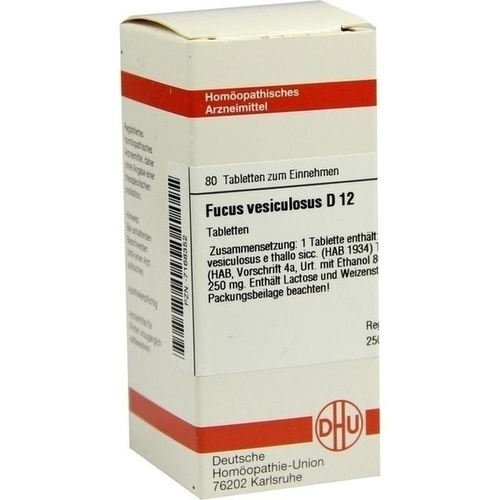 FUCUS VESICUL D12, 80 ST, Dhu-Arzneimittel GmbH & Co. KG