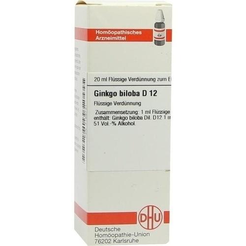GINKGO BILOBA D12, 20 ML, Dhu-Arzneimittel GmbH & Co. KG