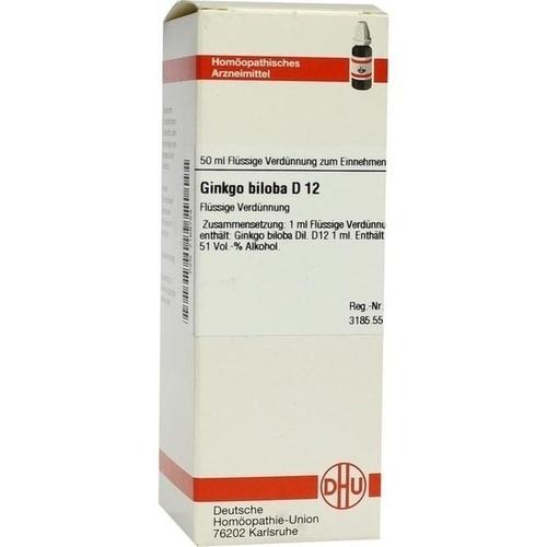 GINKGO BILOBA D12, 50 ML, Dhu-Arzneimittel GmbH & Co. KG