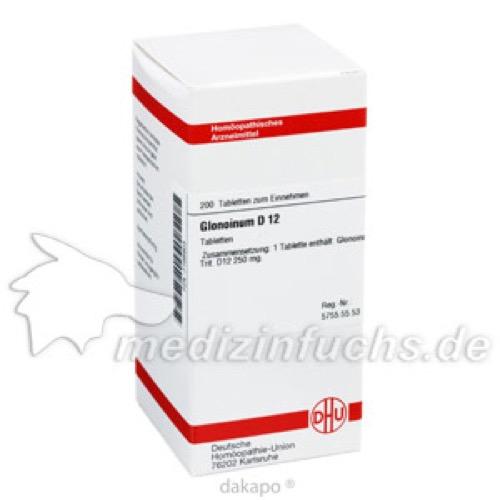 GLONOINUM D 12 Tabletten, 200 ST, DHU-Arzneimittel GmbH & Co. KG