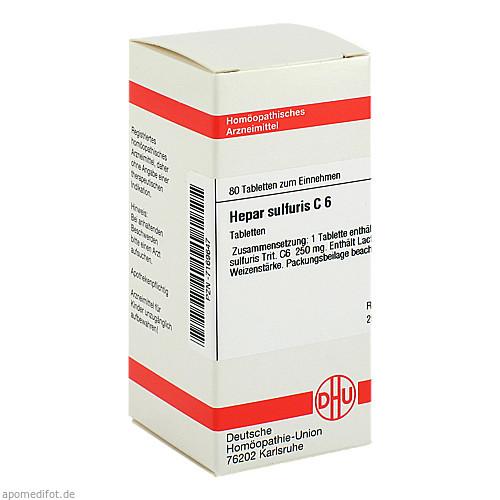 HEPAR SULF C 6, 80 ST, Dhu-Arzneimittel GmbH & Co. KG