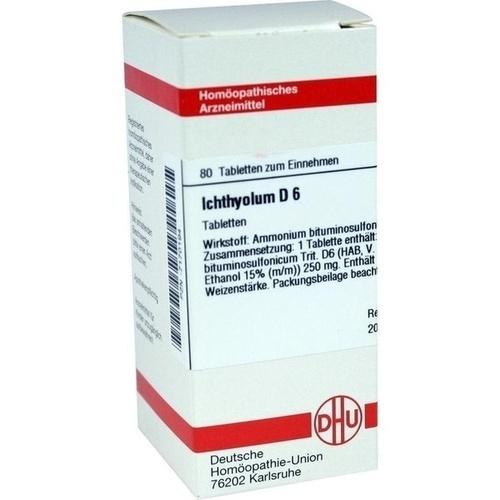 ICHTHYOLUM D 6, 80 ST, Dhu-Arzneimittel GmbH & Co. KG