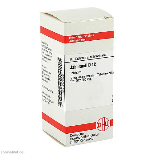 JABORANDI D12, 80 ST, Dhu-Arzneimittel GmbH & Co. KG