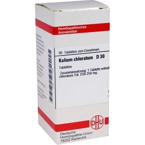 KALIUM CHLORAT D30, 80 ST, Dhu-Arzneimittel GmbH & Co. KG