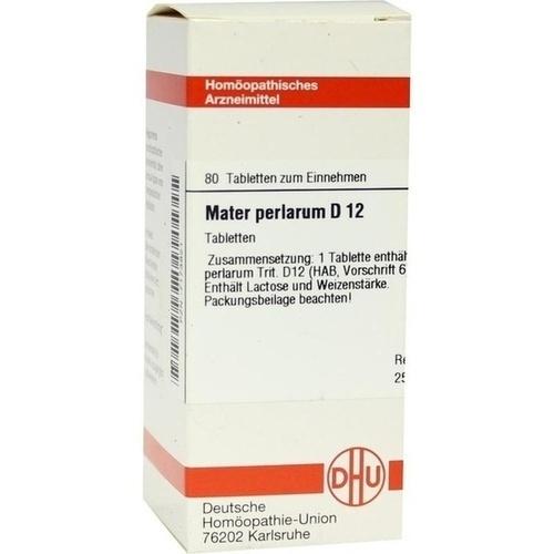 MATER PERLARUM D12, 80 ST, Dhu-Arzneimittel GmbH & Co. KG