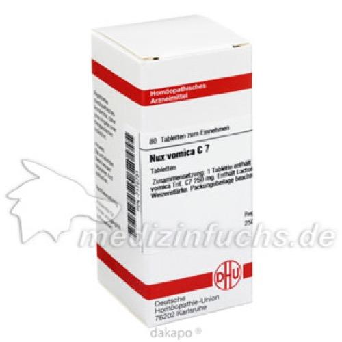 NUX VOMICA C 7, 80 ST, Dhu-Arzneimittel GmbH & Co. KG