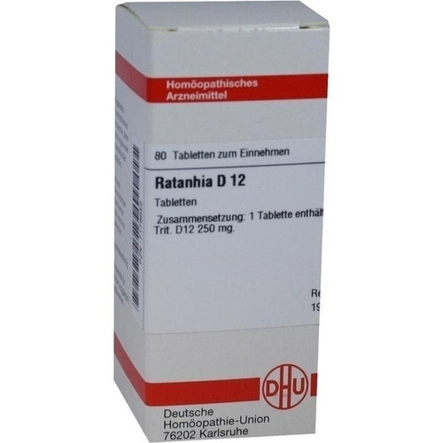 RATANHIA D12, 80 ST, Dhu-Arzneimittel GmbH & Co. KG