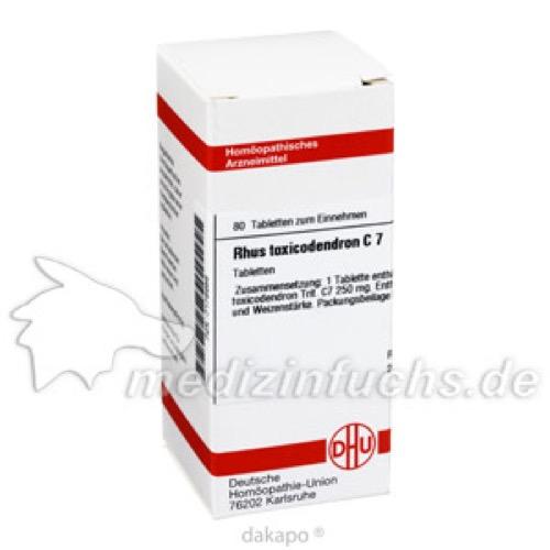 RHUS TOXICODENDRON C 7, 80 ST, Dhu-Arzneimittel GmbH & Co. KG