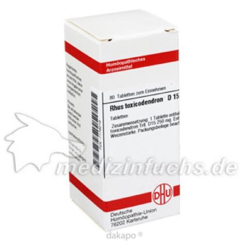 RHUS TOX D15, 80 ST, Dhu-Arzneimittel GmbH & Co. KG