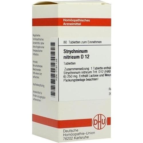 STRYCHNINUM NITRICUM D12, 80 ST, Dhu-Arzneimittel GmbH & Co. KG