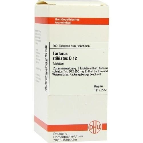 TARTARUS STIBIATUS D12, 200 ST, Dhu-Arzneimittel GmbH & Co. KG
