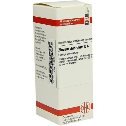 ZINCUM CHLORATUM D 6, 20 ML, Dhu-Arzneimittel GmbH & Co. KG