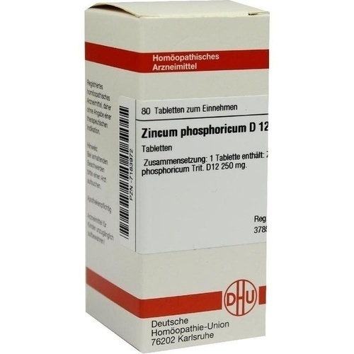 ZINCUM PHOSPHORICUM D12, 80 ST, Dhu-Arzneimittel GmbH & Co. KG