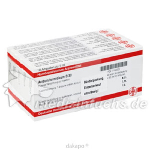 ACIDUM FORMICICUM D30, 50X1 ML, Dhu-Arzneimittel GmbH & Co. KG