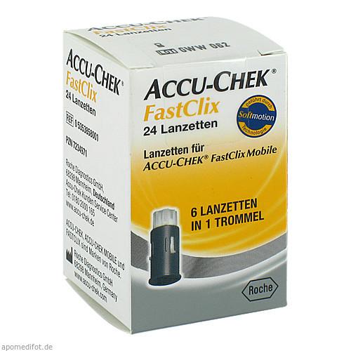 Accu-Chek Fastclix Lanzetten, 24 ST, Roche Diabetes Care Deutschland GmbH