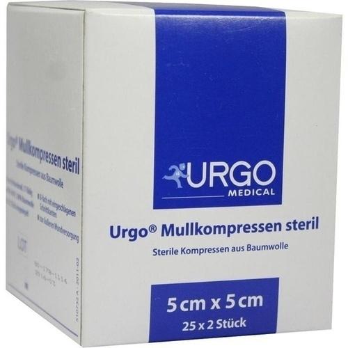 URGO MULLKOMPR 5X5CM STERIL, 25X2 ST, Urgo GmbH