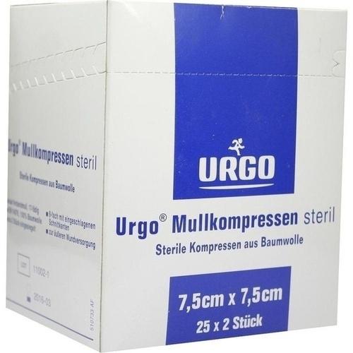 URGO MULLKOMPR 7.5X7.5CM STERIL, 25X2 ST, Urgo GmbH