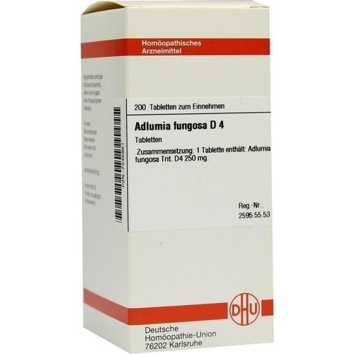 ADLUMIA FUNGOSA D 4, 200 ST, Dhu-Arzneimittel GmbH & Co. KG