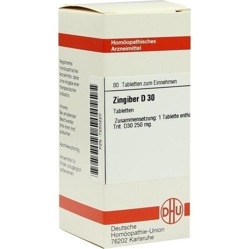ZINGIBER D30, 80 ST, Dhu-Arzneimittel GmbH & Co. KG