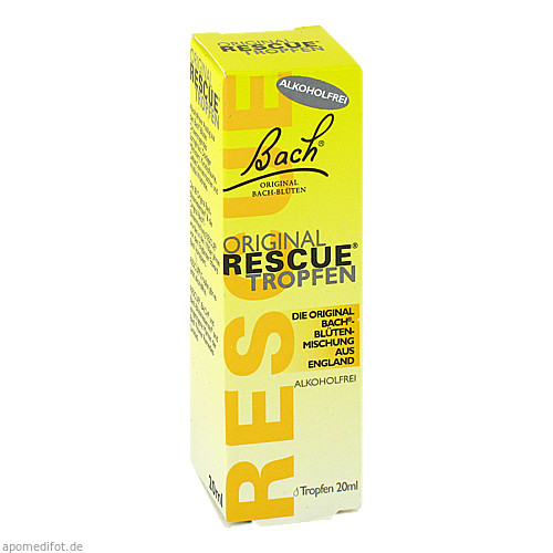Bach Original Rescue Tropfen alkoholfrei, 20 ML, Nelsons GmbH