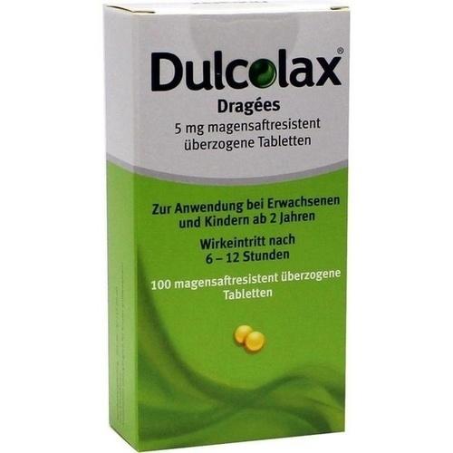 Dulcolax Dragees magensaftresistente Tabletten, 100 ST, Pharma Gerke Arzneimittelvertriebs GmbH