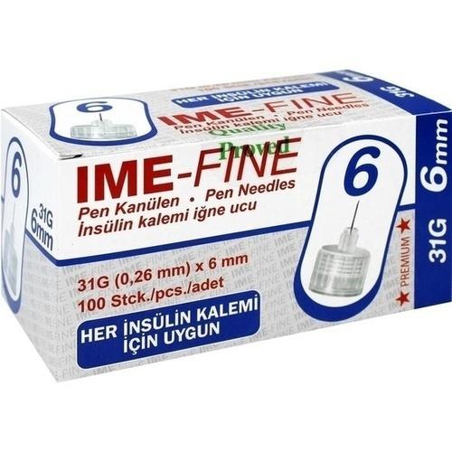 IME-FINE Universal 31G/6mm Pen Kanülen, 100 ST, Ime-Dc GmbH