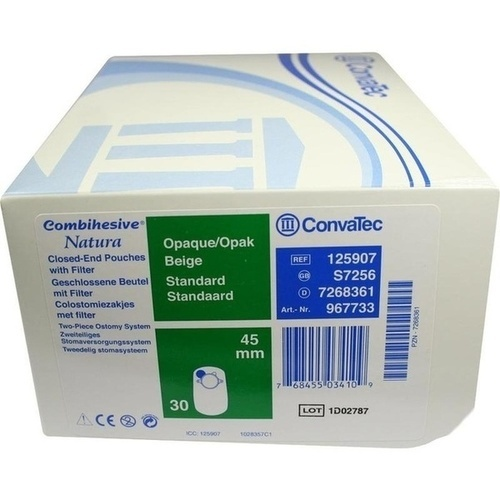 COMBIHESIVE NATURA COLOSTOMIEBTL OPAK 45MM 967733, 30 ST, Convatec (Germany) GmbH
