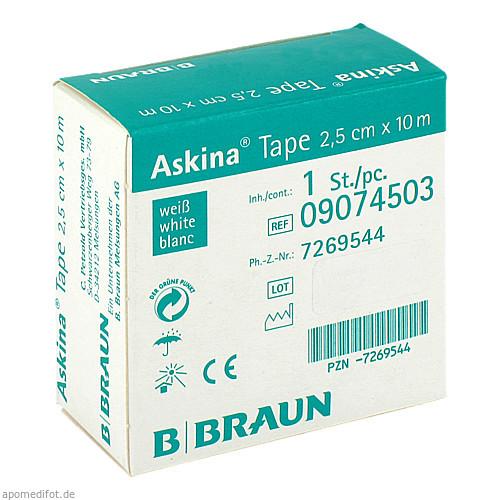 ASKINA TAPE 10MX2.5CM WEISS UNELAST TAPEPFLASTER, 1 ST, B. Braun Melsungen AG