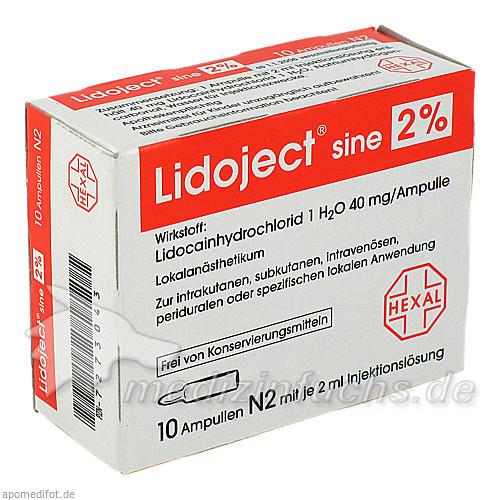 Lidoject sine 2%, 10 ST, HEXAL AG