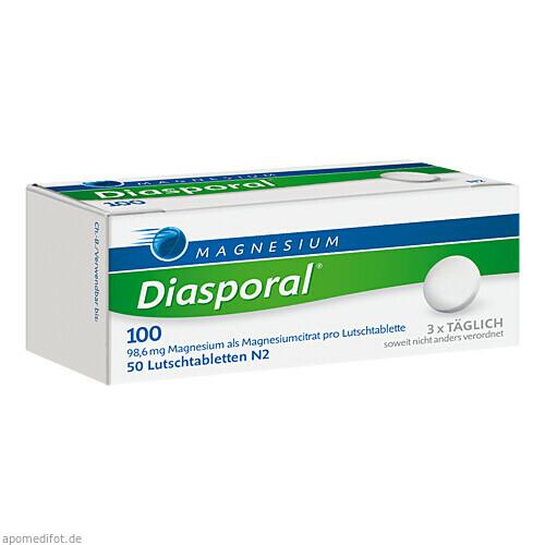 MAGNESIUM DIASPORAL 100 LUTSCHTABLETTEN, 50 ST, Protina Pharmazeutische GmbH