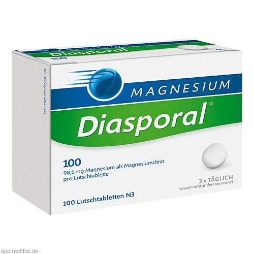 MAGNESIUM DIASPORAL 100 LUTSCHTABLETTEN, 100 ST, Protina Pharmazeutische GmbH