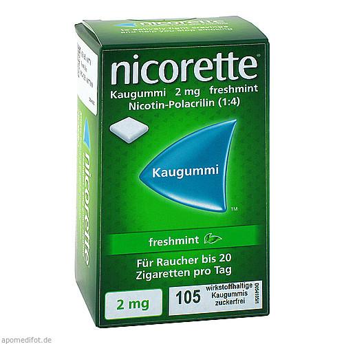 Nicorette 2mg Freshmint Kaugummi, 105 ST, Pharma Gerke Arzneimittelvertriebs GmbH