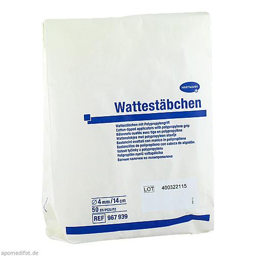 Peha Wattestäbchen 14cm mit großem Wattekopf, 50 ST, Paul Hartmann AG