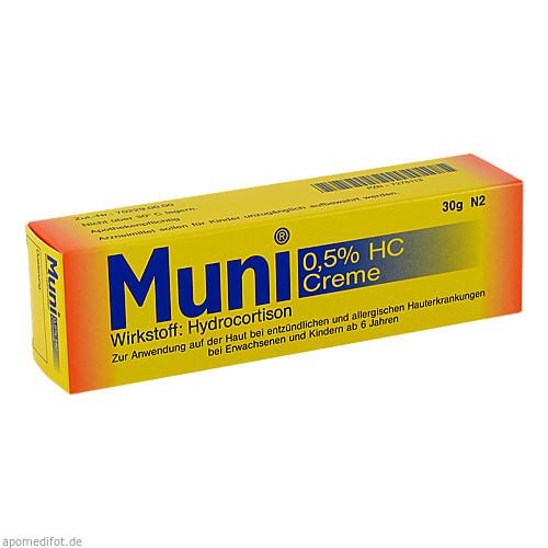 Muni 0.5% HC Creme, 30 G, Robugen GmbH Pharmazeutische Fabrik