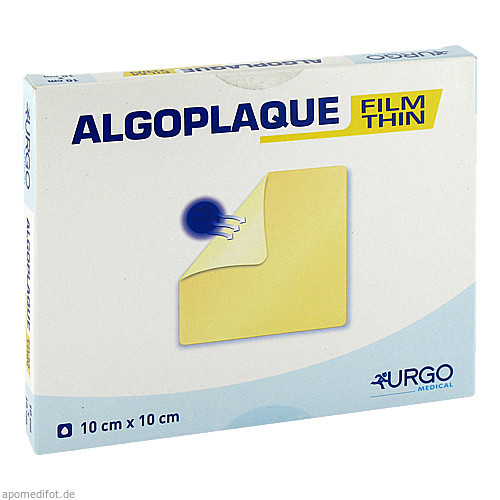 ALGOPLAQUE FILM 10X10CM dünner Hydrokolloidverband, 10 ST, Urgo GmbH