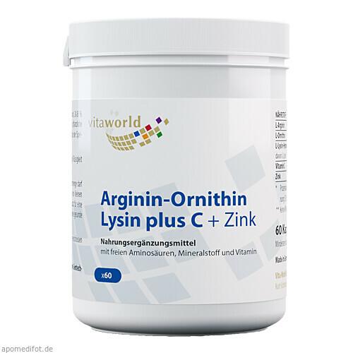 Arginin-Ornithin-Lysin + C + Zink, 60 ST, Vita World GmbH