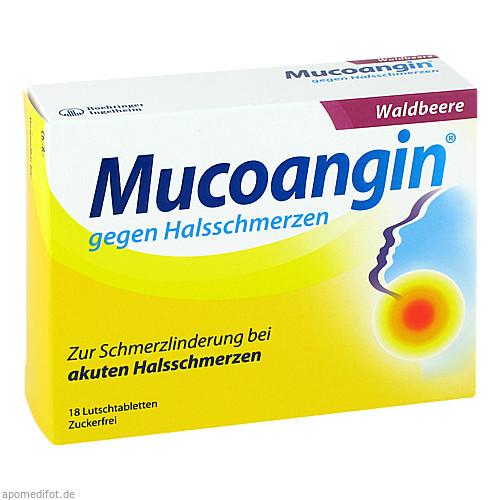 Mucoangin Waldbeere 20 mg Lutschtabletten, 18 ST, Sanofi-Aventis Deutschland GmbH GB Selbstmedikation /Consumer-Care