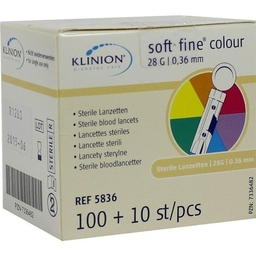 Klinion soft fine colour 28G, 110 ST, Eu-Medical GmbH
