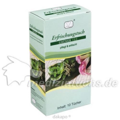 Erfrischungstuch Grüner Tee, 10 ST, Kda Pharmavertrieb Arndt GmbH