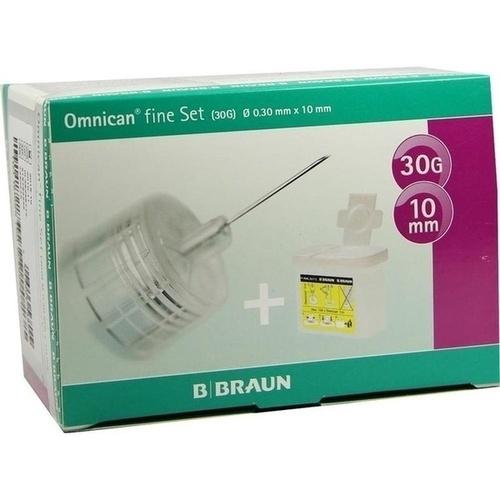 OMNICAN fine Set Pen Kanüle 0,30x10 mm a 100St, 1 P, B. Braun Melsungen AG