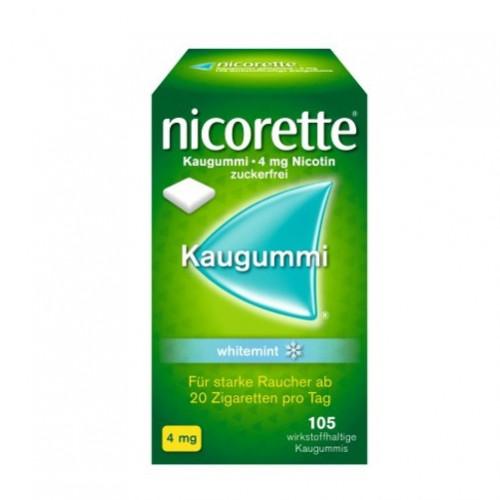 nicorette Kaugummi 4mg whitemint, 105 ST, Johnson & Johnson GmbH (Otc)