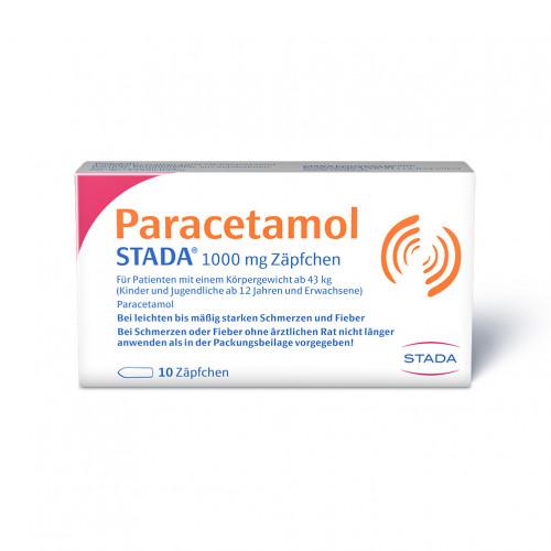 Paracetamol STADA 1000mg Zäpfchen, 10 ST, STADAPHARM GmbH