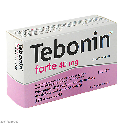 TEBONIN FORTE 40MG, 120 ST, Dr.Willmar Schwabe GmbH & Co. KG