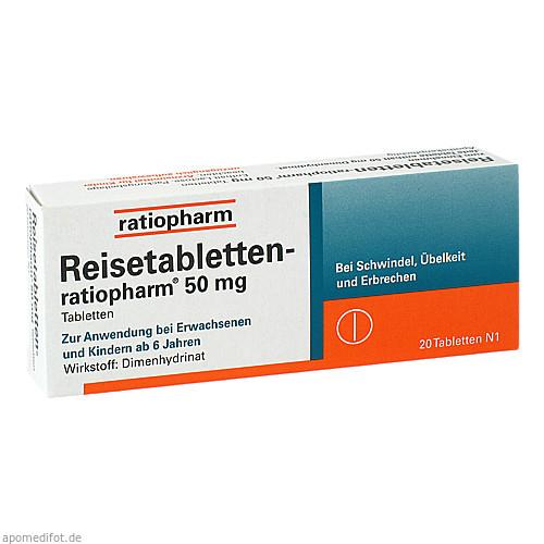 REISETABLETTEN-RATIOPHARM, 20 ST, ratiopharm GmbH