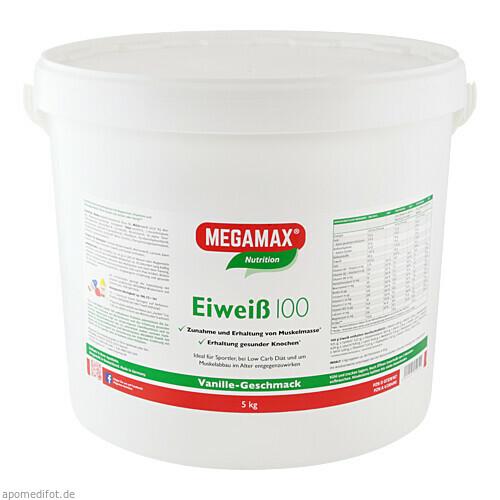 EIWEISS 100 VANILLE MEGAMAX, 5000 G, Megamax B.V.