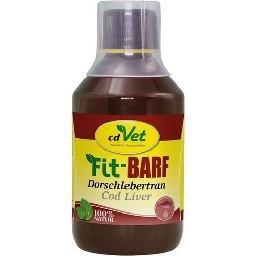 Fit BARF Dorschlebertran vet, 250 ML, cd Vet Naturprodukte GmbH